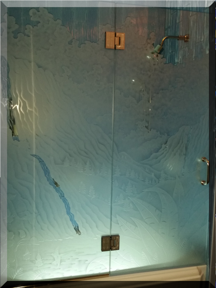 Quot Frameless Shower Doors Frameless Shower Enclosures Etched